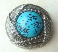 Vintage Sphinx Feathers And Egg Nest Or Nesting  Brooch.